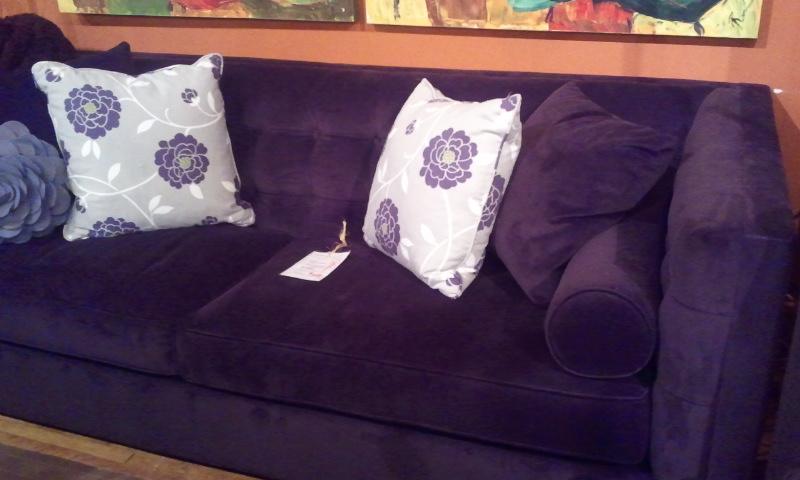 Interior Design Ready Set Sarah - Purple decorative bedroom pillows