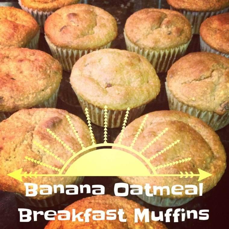 Banana Oatmeal Muffins (Image by Ready Set Sarah)