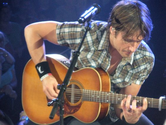 Up Close and personal. Keith Urban at Arco Arena in 2009. (Photo by Ready Set Sarah).