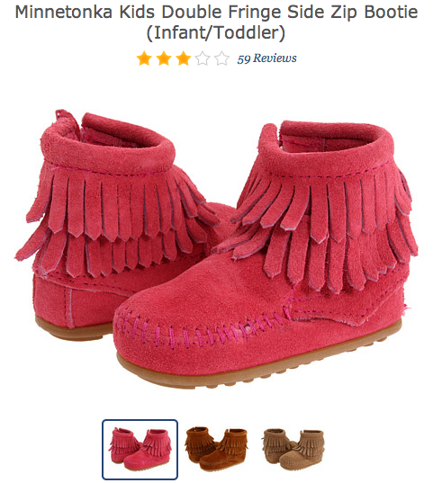 Minnetonka Kids in Hot Pink (Image from Zappos)