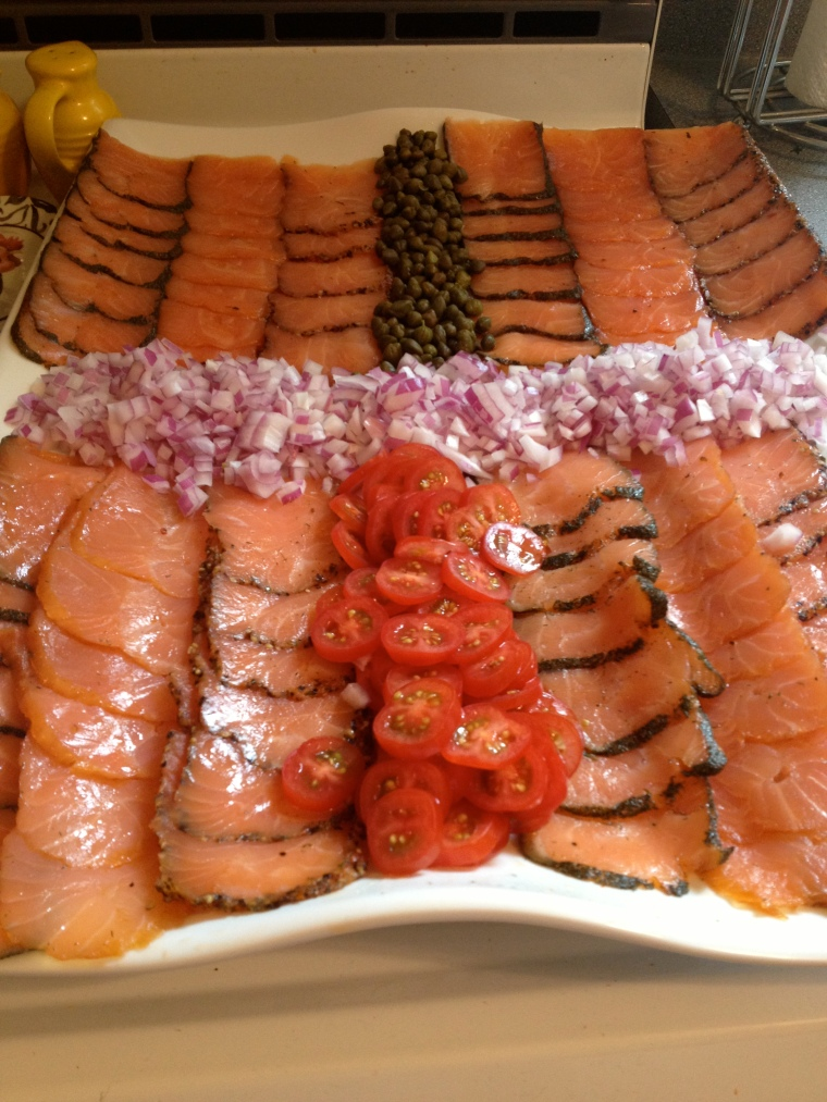Lox (smoked Salmon) for the bagels.