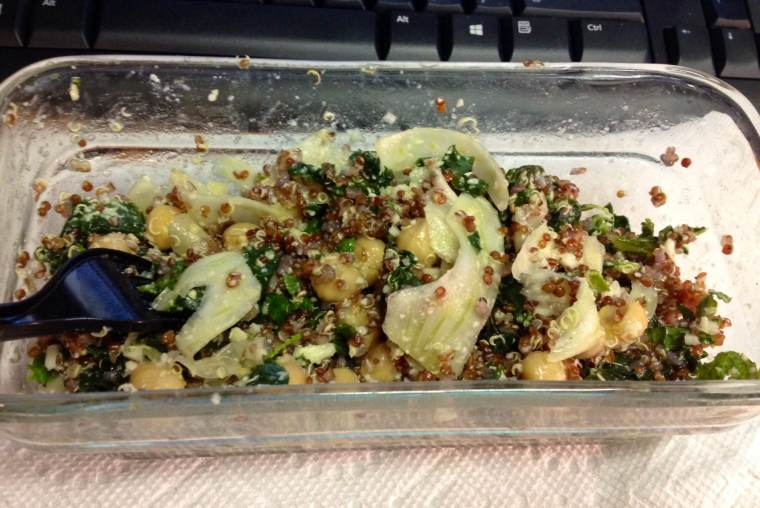 Kale, Chickpea and Fennel Salad, Day 2