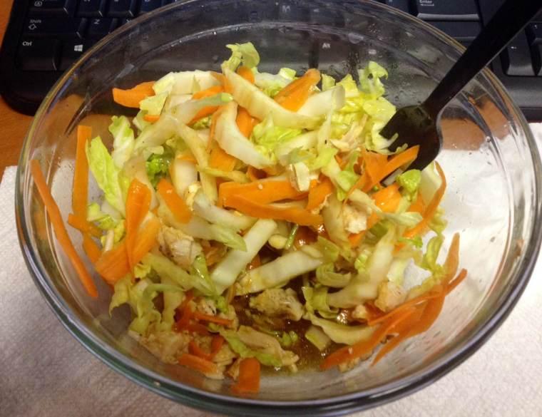 Asian Chicken Salad, Day 3
