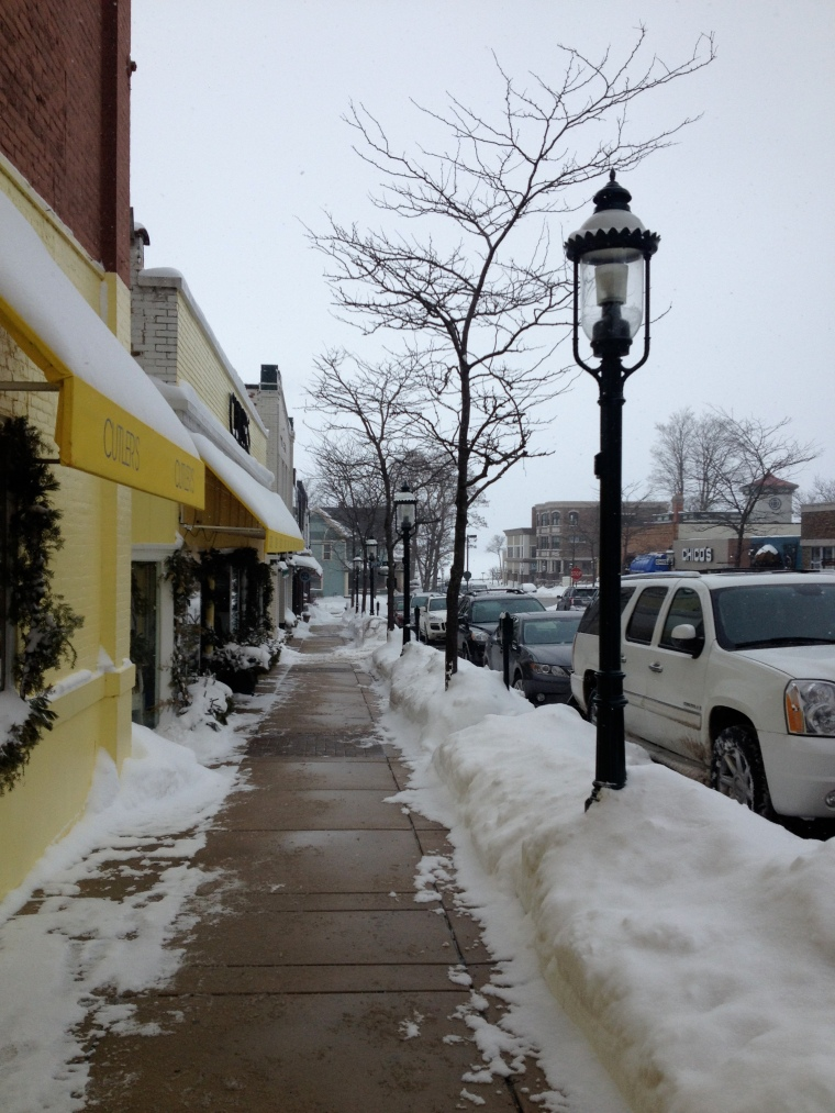 Quaint shopping streets and small town charm in Petoskey