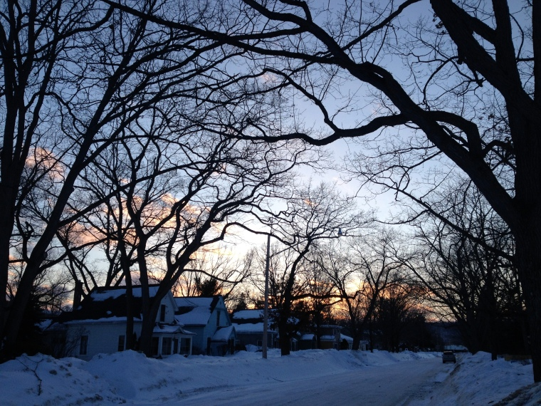 Traverse City sunset outside our friends home