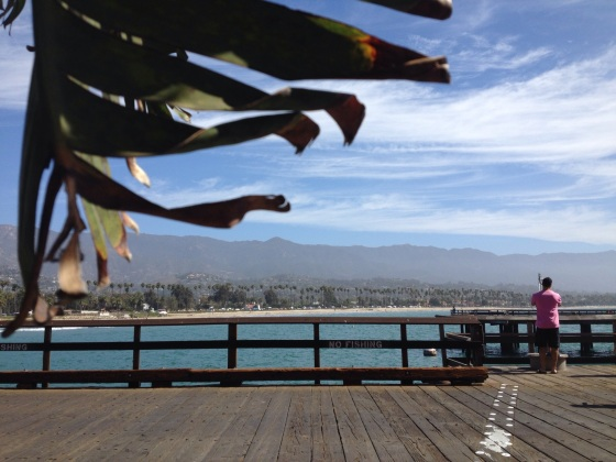 Birthday walk on the warf in Santa Barbara. Gorgeous view which ever way you look! (Image by Ready Set Sarah)
