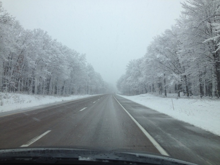 Snowy drive to New Jersey for Thanksgiving