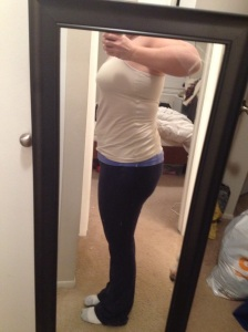 Original starting point photo from pregnancy 1 (I was too nervous to take one this time around). 8-12 Weeks