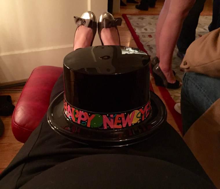 Feet up, kicked back. Happy 2015!